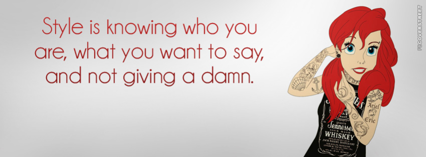 Style Is Knowing Who You Are Quote Facebook cover