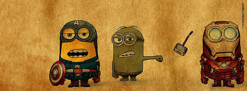 Despicable Me IronMinion Hulk Minion and Captain AmeriMinion  Facebook Cover