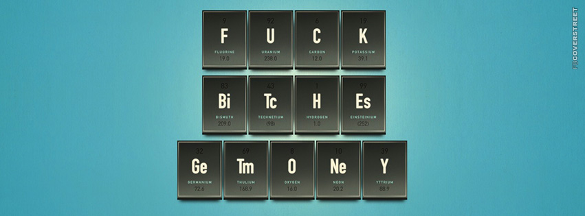 Chemistry Fuck Bitches Get Money  Facebook cover