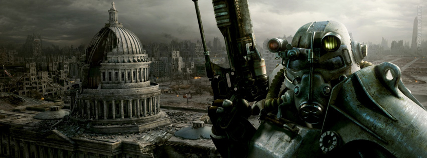 Fallout 3 Destroyed City Facebook Cover