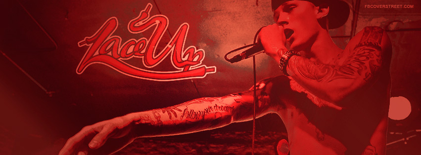 Machine Gun Kelly Photo With Lace Up Logo Facebook Cover