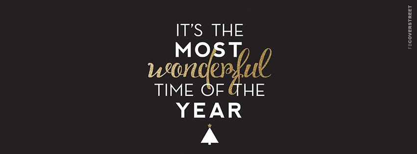 Its The Most Wonderful Time of Year Statement  Facebook cover
