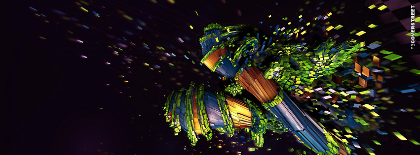 Abstract Minecraft Art  Facebook Cover