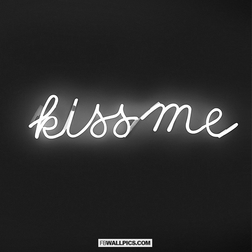 Kiss Me Neon Sign  Facebook picture
