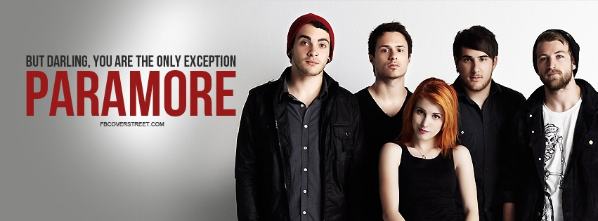 Paramore The Only Exception Quote Facebook cover
