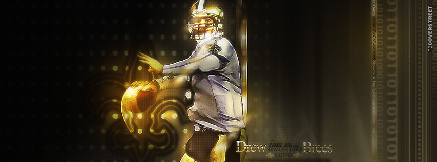 This Is Drew Brees Artwork New Orleans Saints Facebook cover