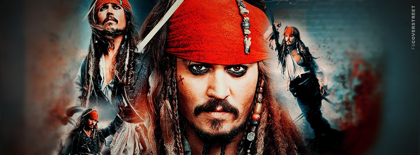 Pirates of the Caribbean Jack Sparrow Facebook cover