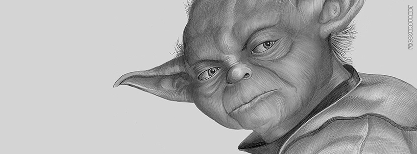 Incredible Yoda Drawing Facebook cover
