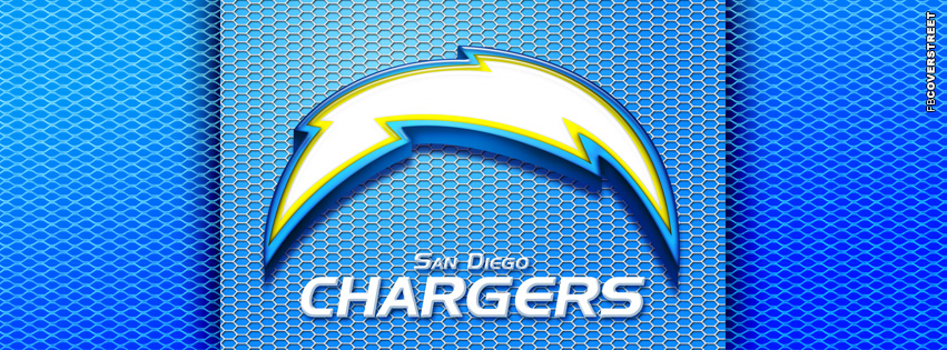 San Diego Chargers Metal Logo  Facebook cover