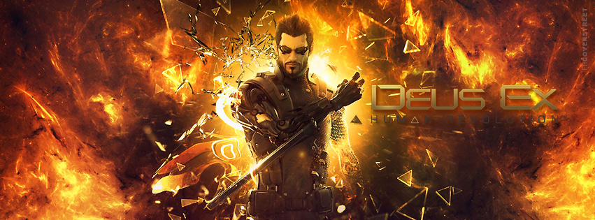 Deus Ex Human Revolution Adam Jensen Facebook Cover  Facebook Cover