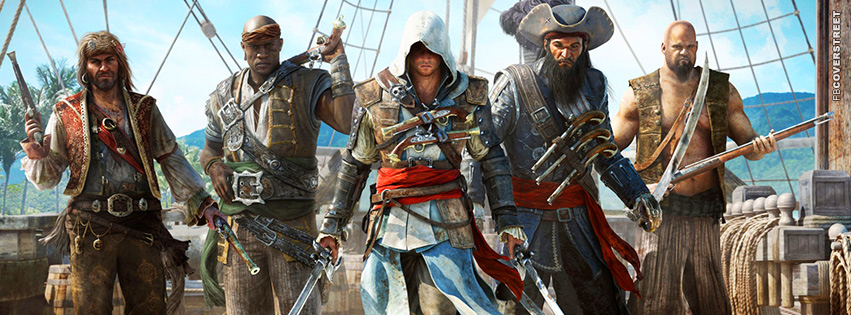Assassins Creed Black Flag Characters  Facebook Cover