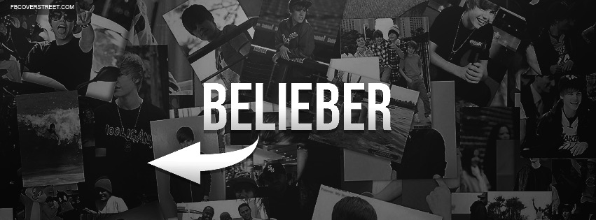 Belieber Collage Facebook cover