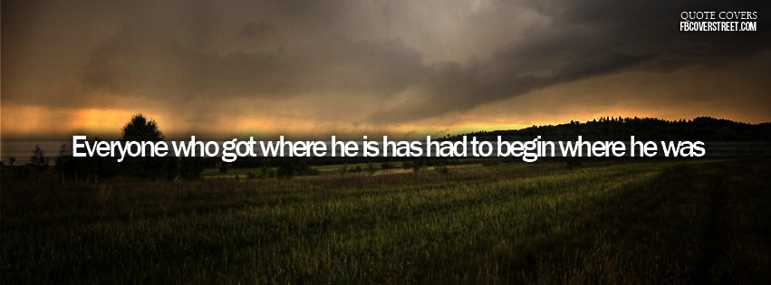Begin Where He Was Facebook cover