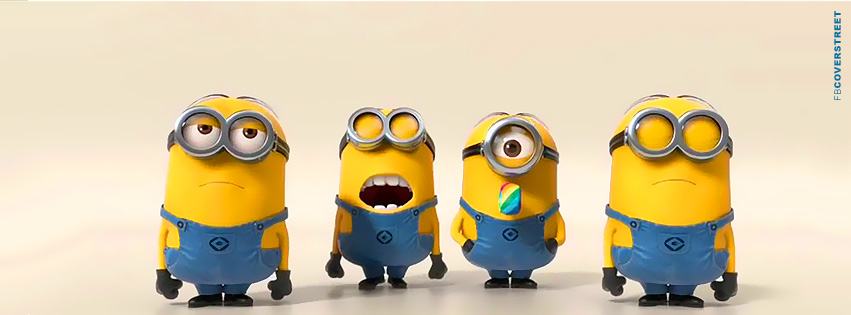 Despicable Me Lazy Minions  Facebook Cover