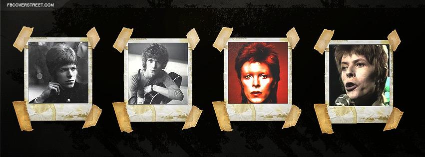 David Bowie Polaroids Facebook Cover