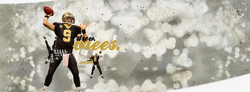 Drew Brees Throwing New Orleans Saints Facebook cover
