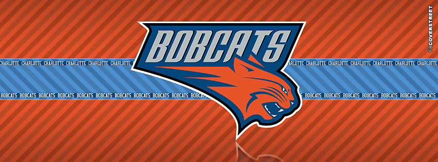 Charlotte Bobcats Striped Facebook cover