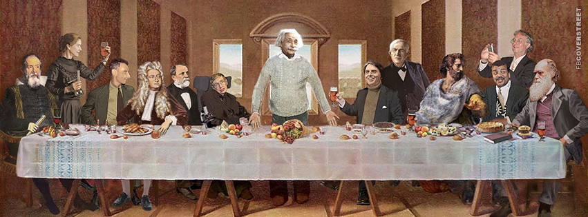 Intelligent People of History The Last Supper  Facebook Cover