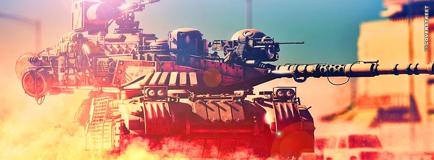 Battlefield 3 Glaring Tank  Facebook Cover