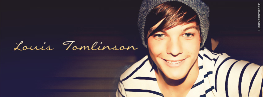 One Direction Louis Tomlinson Simple Facebook cover