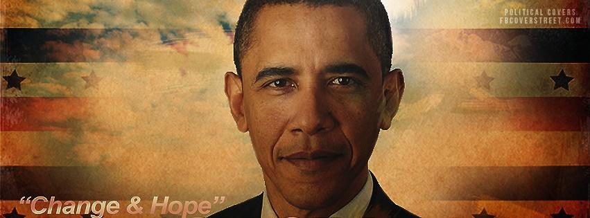 Barack Obama Face Facebook Cover