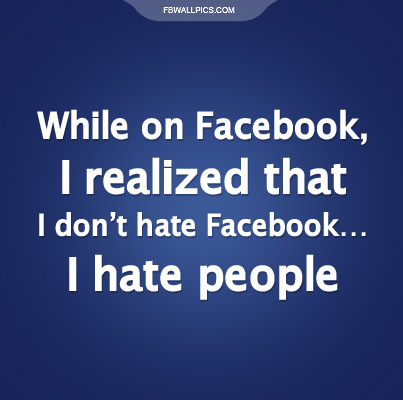 I Dont Hate Facebook Facebook Pic