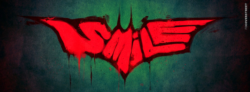 Batman Joker Smile Movie Facebook Cover