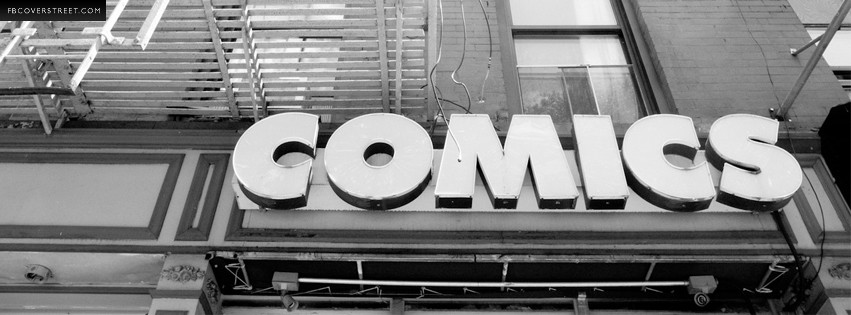 Comics Black and White Photo Facebook cover