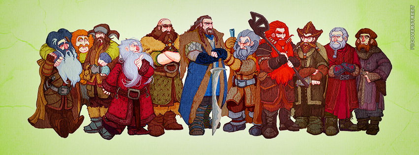 The Hobbit Group Artwork Facebook cover