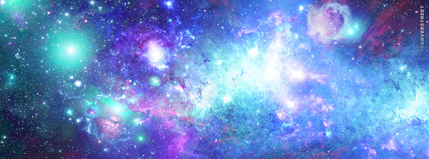 Pink and Blue Abstract and Colorful Space  Facebook Cover