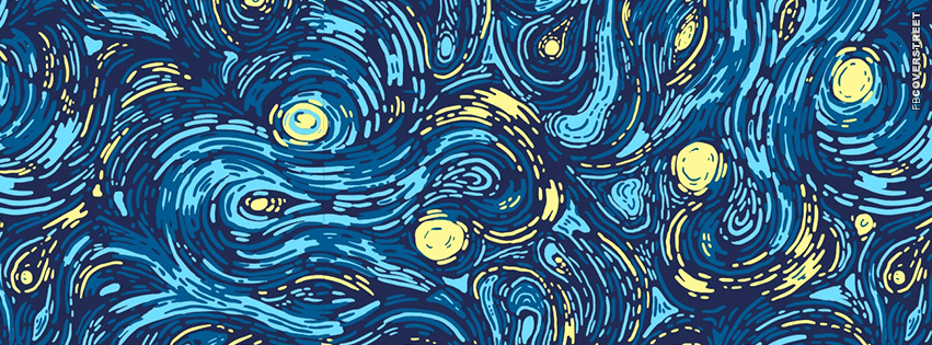 Starry Night Artwork  Facebook cover