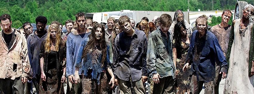 The Walking Dead Zombies Crowd  Facebook Cover