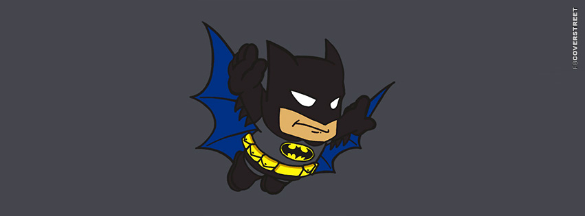 Cute Batman Character  Facebook cover