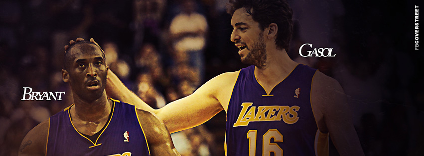 Los Angeles Lakers Bryant and Gasol  Facebook cover