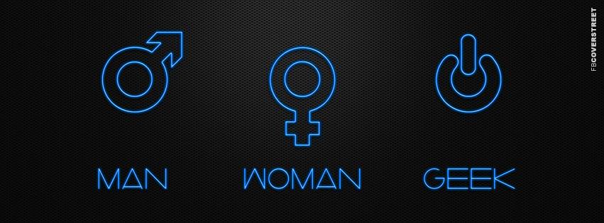 Man Woman and Geek Sex Symbols  Facebook Cover