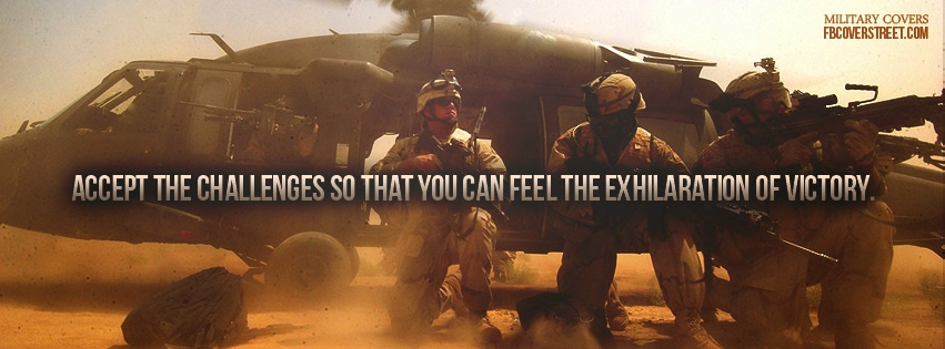 Army Accept The Challenge Facebook Cover