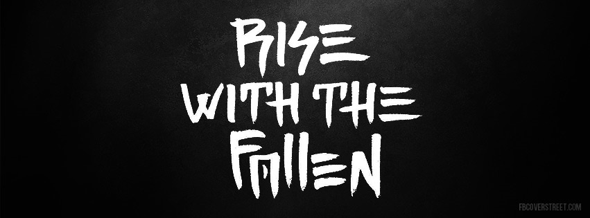 Rise With The Fallen Logo Facebook Cover