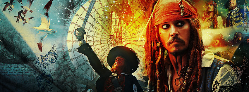 Pirates of the Caribbean Cover 3  Facebook cover