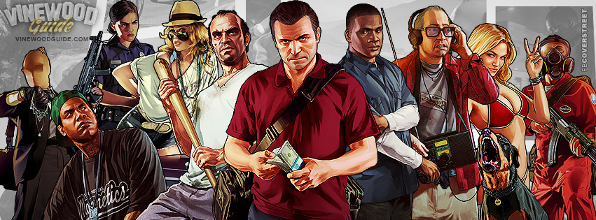 GTA V Character Artwork Facebook cover