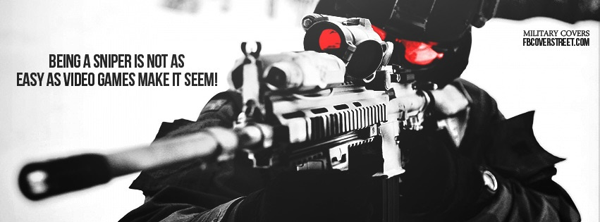 Sniping Is Not Easy Facebook Cover