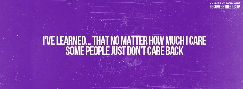 Some People Dont Car Facebook Cover