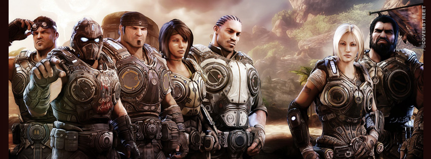 Gears of War Main Characters  Facebook Cover