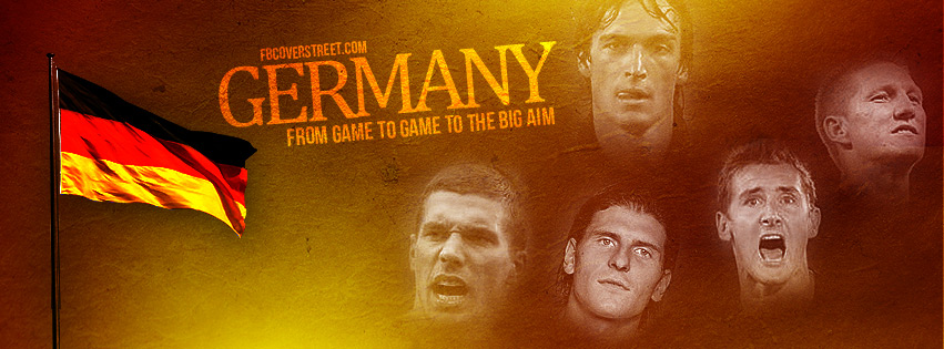 Germany Team And Flag Facebook Cover
