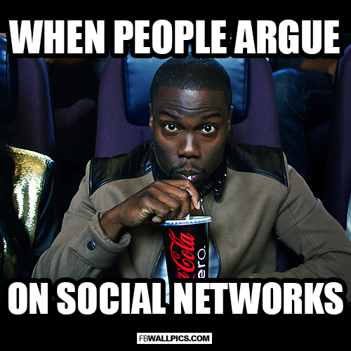 When People Argue On Social Networks Kevin Hart Meme  Facebook picture