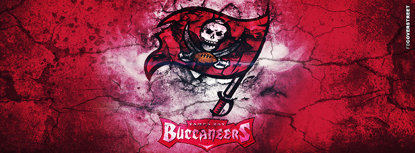 Tampa Bay Buccaneers Grunged Logo  Facebook cover