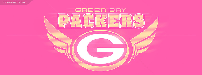 Green Bay Packers Pink Logo 3 Facebook Cover