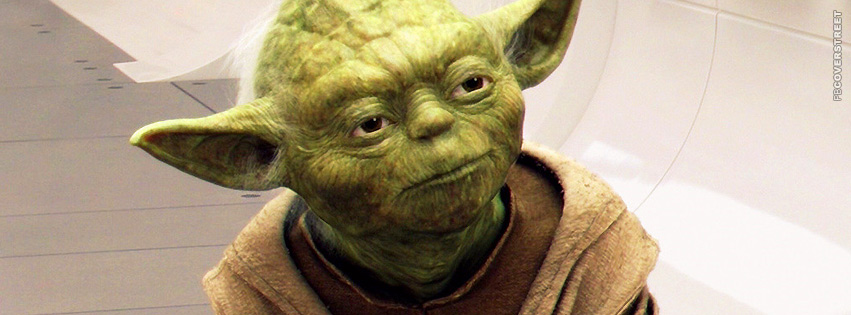 Wise Yoda Star Wars  Facebook cover