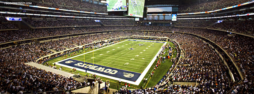 Dallas Cowboys Full Stadium Facebook Cover