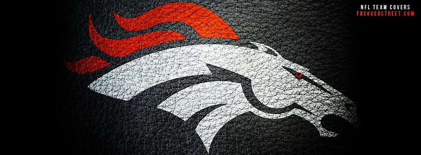 Denver Broncos Leather Logo Facebook Cover