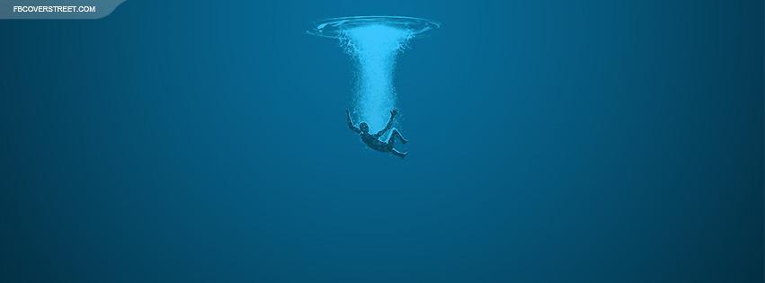 Man Falling In Water Facebook Cover